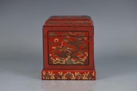 旧藏 脱胎漆器印章盒