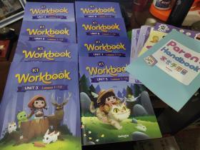 K1 workbook unit1.2.3.4.5.7.8.9【8本】.+家长手册+6张 知识点