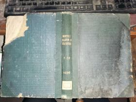 MONTHLY BULLETIN OF STATISTICS 统计月报   1936年7月--12月六册合订本[中央银行签收]联赛部日内瓦联合国出版物