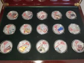 奥运火炬纪念币、33枚一套、造型精美、做工大气、非常值得收藏。