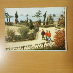 青岛街心花园明信片
