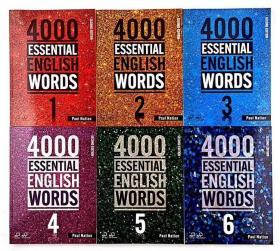 4000 Essential English words  套装6册