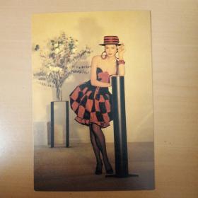 明信片 法国时装