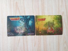 神奇宝贝卡片(2张)