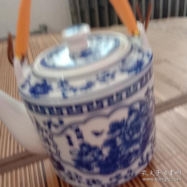 陶瓷茶壶没壶把盖有一缺囗