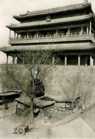 老北京永定门及其附近燕墩老照片18张5吋的