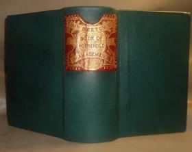 1893年Mrs. Beeton- The Book of Household Management. 西餐食谱圣经《本顿夫人烹饪金典》全插图本 全小牛皮手工装帧 绝美珂罗版套色版画插图 品佳