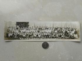 1950年西南人民革命大学总校第一期二部一班全体合影老照片一张,品见描述包快递发货。