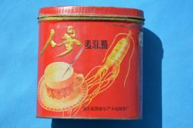 80年代80后 人参麦乳精 老铁罐铁桶  老货 老物件摆设