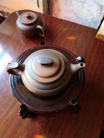 窑变紫砂壶--------16*11.*8cm----------卫良摹顾
