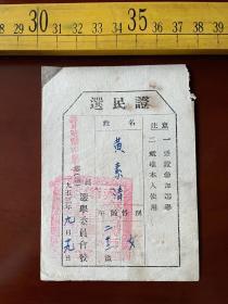 1953年选民证,齐齐哈尔市第二区选举委员会