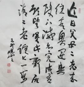 ★【顺丰包邮】【纯手绘】【孙晓云】纯手绘书法、四尺斗方(69*69cm)买家自鉴5