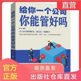 正版书 给你一个公司你能管好吗 企业管理书籍畅销书关于公司管理 人际交往管理员工培训心理学营销管理团队 领导力执行力