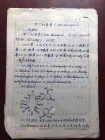 陈岱宗研究员手稿:甲红霉素