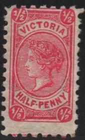 英联邦邮票C,澳大利亚 维多利亚州1901年维多利亚女王,½p