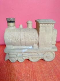 中国路酒 酒瓶一个 火车头形状【有徽标:国路·中国路酒1896】