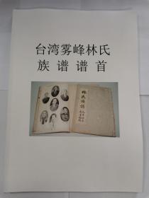 《台湾雾峰林氏族谱 谱首》(文字整理稿)