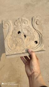 """陶器类;房顶房脊中宫""""石榴花中间有钱""""花纹"""