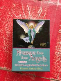 Messages from Your Angels Oracle Cards 来自你天使的信息 甲骨文卡 64开 (44张卡片+一本小册子)