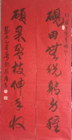 西安郑安庆书法对联  保真