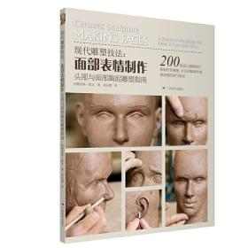 现代雕塑技法-面部表情制作、头部与面部陶泥雕塑指南 正版图书 9787549416462 〔美〕阿勒克斯·欧文 广西美