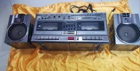 收录机 日本原装日立牌(HITACHI TRK-W3W)立体声双卡分离式高档 收录音机