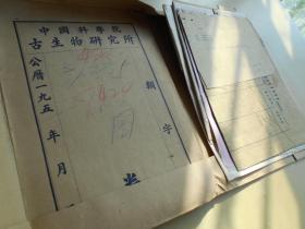 """1960年【古生物所鉴定化石鉴定资料一沓】里面有""""顾知微""""院士签名·"""