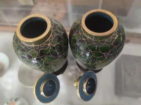 创汇产品,景泰蓝鎏金将军罐、造型精美、做工大气、胎体厚重、非常值得收藏