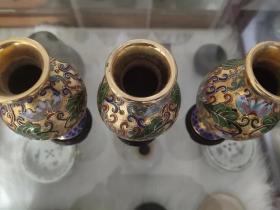 创汇产品,景泰蓝鎏金花瓶