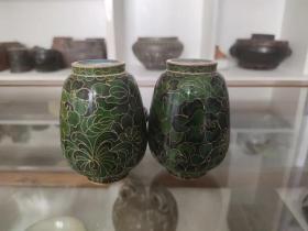 创汇产品,景泰蓝鎏金将军罐、造型精美、做工大气、胎体厚重、非常值得收藏。5.5-10cm