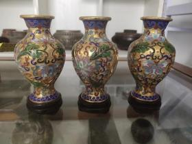 创汇产品,景泰蓝鎏金花瓶、造型精美、做工大气、胎体厚重、非常值得收藏