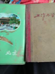 90年代北京日记本无字迹  工作与学习  2本合售如图