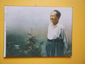 文革后期宣传照片《1961年毛泽东在江西庐山)【照相纸印刷的照片】