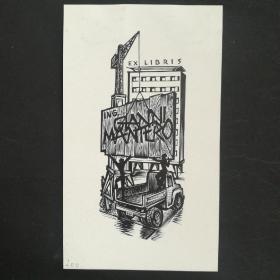 258-GERARD GAUDAEN木版藏书票原作