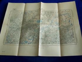 南京地图       日本参谋本部出版       1910年出版    46:58cm    百万:一