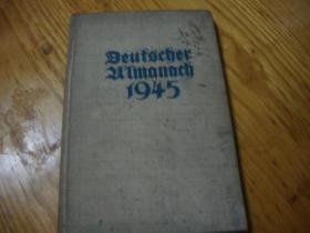 德文原版<<1945年版 DEUTSCHER ALMANACH 1945>>精装本 品图自定