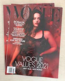 美国版 VOGUE 2021年1月 时尚潮流趋势女士服装英文杂志