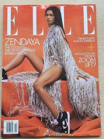 美国版 ELLE 2021年1月 女士时尚服饰潮流服装英文杂志
