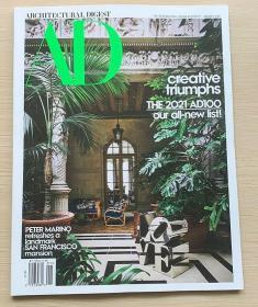 AD ARCHITECTURAL DIGEST建筑辑要2021年1月美国建筑设计英文杂志
