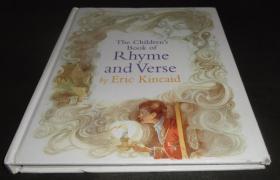 2手英文 The Children's Book of Rhyme and Verse Eric Kincaid 埃里克·金凯德 童谣绘本 顶部底部有点受潮 sed82