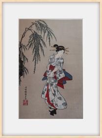 #浮世绘#三代歌川丰国*《美人图》*绝版近百年高级木刻版画