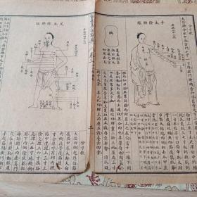 清末石印人物版画标本一页!