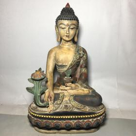 琉璃佛像  尺寸:长约:25cm 宽约:18cm 高约:39cm