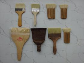 装裱书画工具(毛刷、毛扫、毛把)8把合售