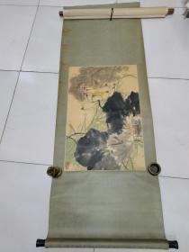 已故中国美协会员浙江著名画家张世简原装立轴3平尺真假自辩