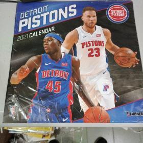 TURNER Sports Detroit Pistons 2021 12X12 Team Wall Calendar