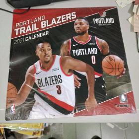 Turner Licensing, Portland Trail Blazers Team Wall Calendar 2021 12X12 Team Wall Calendar