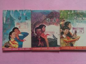 六年制小学课本 语文 第十册、第十一册、第十二册合售