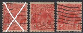 英联邦邮票E,澳大利亚1926-30年英国国王,袋鼠、鸸鹋,一枚价