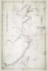 0016古地图1874清同治13年后大清一统海道总图。石印本。纸本大小51.95*75.83厘米。宣纸原色微喷印制,按需印制不支持退货